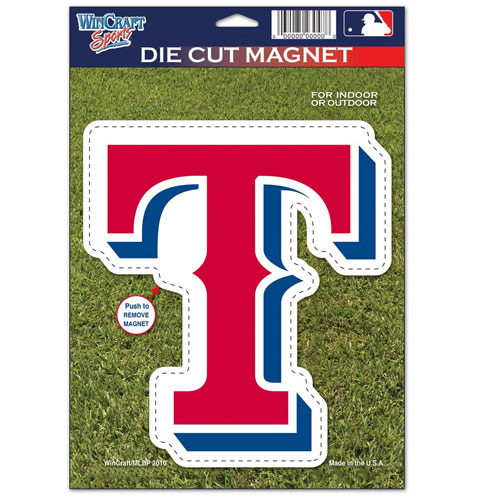 "Texas Rangers WinCraft 6"" x 9"" Car Magnet - No Size"