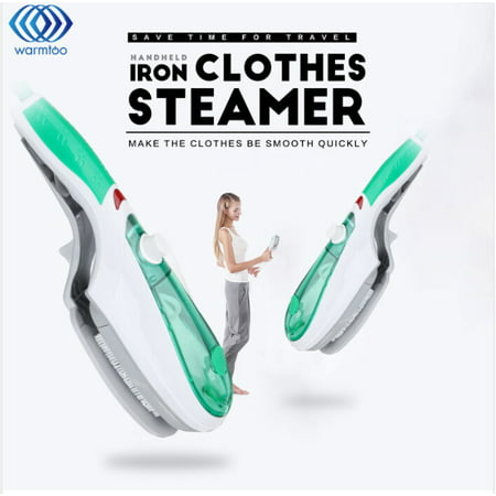 Portable Garment Steamer Iron Household Fabric Steamer Ironing Machine Hanging hot Machine Best Travel Shirt Handheld Clothes Clothing Steamer Features:- Without ironing board, just add water and electricity for more than 50 seconds, you can spray steam.- Portable and small size, designed to wipe out wrinkles exactly like the professional machines that are being used in the dry cleaning and fashion industries.- The iron steamer is safe for all fabrics, and it faster than regular ironing.- It has a large transparent water tank, which makes water injection is more convenient.- The shell adopts full plastic high temperature material, safe to use.- Applicable to all kinds of operation.- Safe and convenient, fast and efficient.