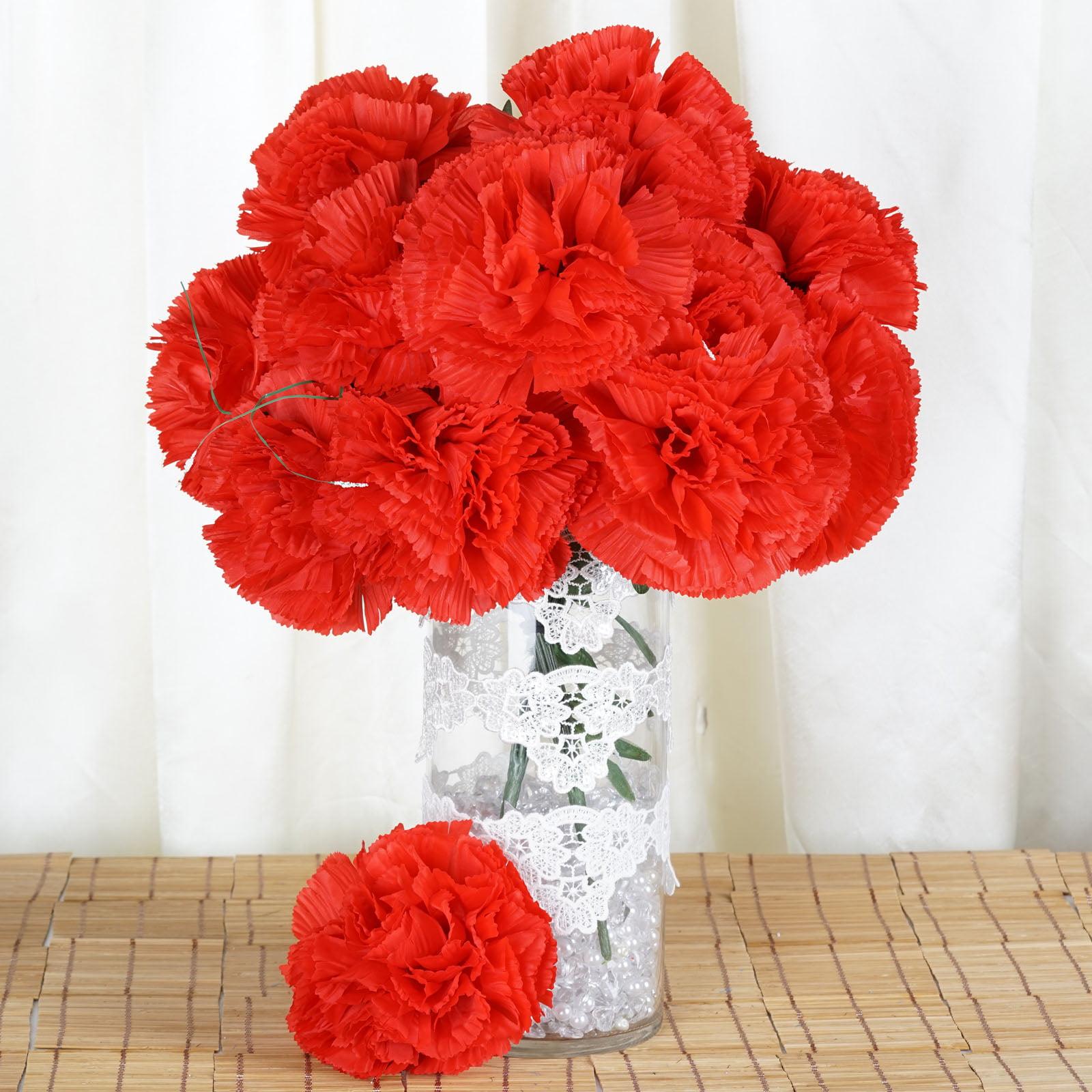Balsacircle 36 Extra Large Silk Carnations Flowers Diy Home