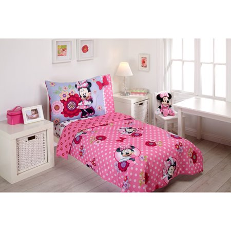 Minnie Mouse Crib Bedding Set At Walmart