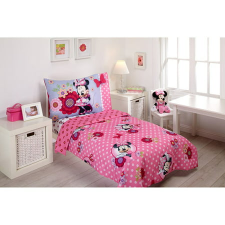 Disney Minne Mouse Toddler Bed and Bedding Value Bundle - Walmart.com