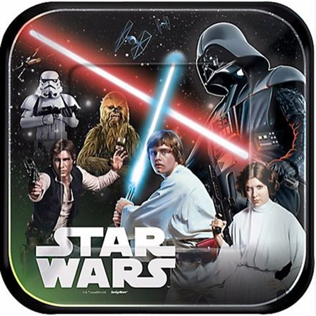 Star Wars 'Classic' Large Paper (8ct), By Plates Ship from US - Star Wars Paper Plates