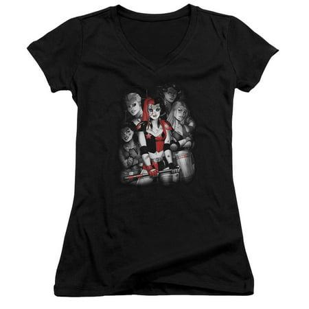 juniors: harley quinn- roller derby team v-neck apparel womens v-necks - - Harley Pajamas