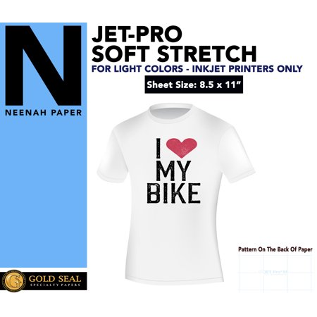 IRON ON T-SHIRT HEAT TRANSFER PAPER JET-PRO SS JETPRO SOFSTRETCH 8 5 X 11