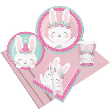 1st Birthday Bunny Party Pack For 8](Bunny Party Supplies)