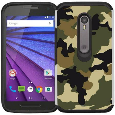 innovative design e3562 257e1 Moto G 3rd Generation Case - Armatus Gear (TM) Slim Hybrid Armor Case  Protective Phone Cover for Moto G3 / Motorola G 3rd Gen (2015 Release)