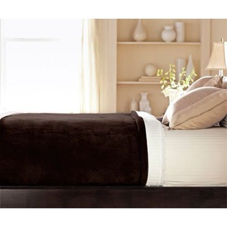 Sunbeam - Queen Size Heated Blanket Luxurious Velvet Plush with 2 Digital Controllers and Auto-off Feature - 5yr Warranty (Walnut Brown)