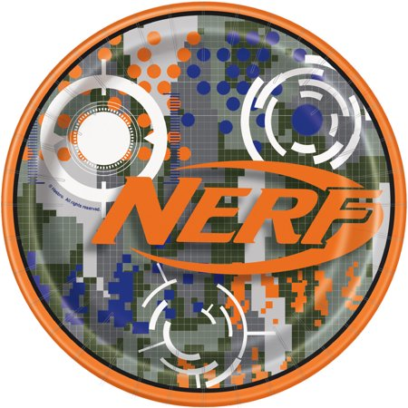 (4 Pack) Nerf Party Paper Dinner Plates, 9 in, - Party Paper Outlet