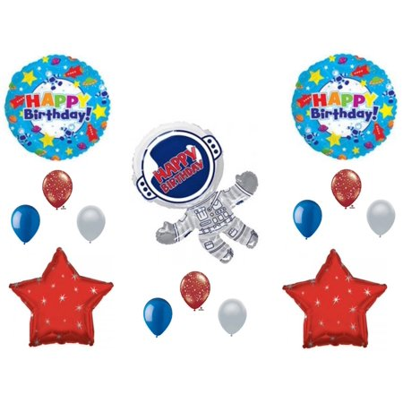 Space Birthday Party (Astronaut Outer Space Happy Birthday Party Balloons Decorations Supplies)