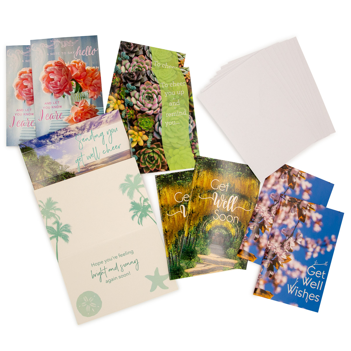 40 Greeting Cards /& Envelopes 20 Birthday and 20 Get Well Cards NO Duplicates