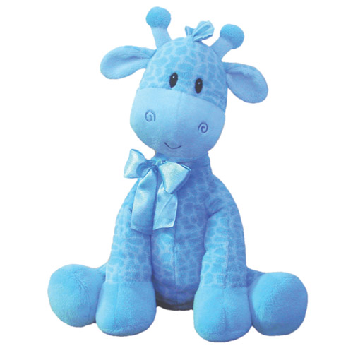 "First & Main Plush Stuffed Blue Giraffe, 8-1/2"" Sitting Position"