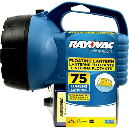 Beam Long Range - Value Bright 75 Lumen Floating Lantern with 6V Battery (EFL6V-BA), Long range beam By Rayovac