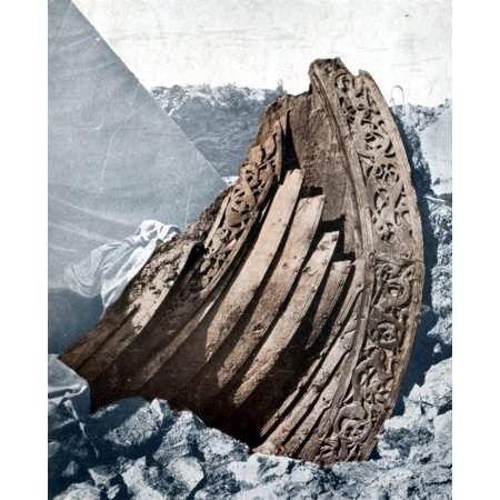 The Oseberg Viking Ship Poster Print by Science Source