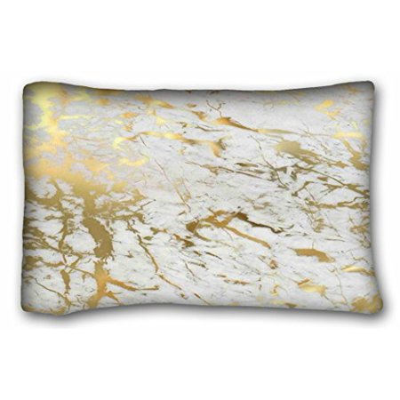 WinHome Uniquetype Fashion Pillowcasess Gold Marble Inspired By The Beauty Of Marble Style Nice Pillow Cover Bedding Set Pillow Cases Sofa Size 20x30 Inches Two Side