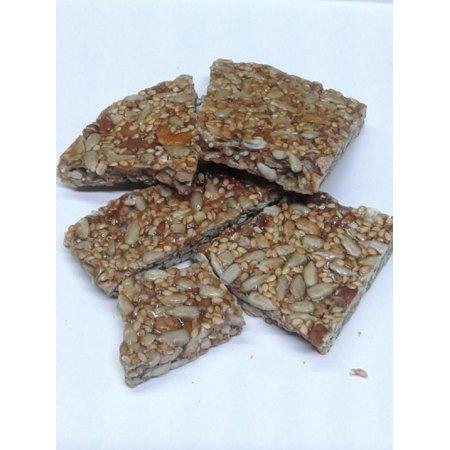Peanut Brittle 1 Pound (Honey Nut Seed Crunch 1 pound Honey Nut Brittle )