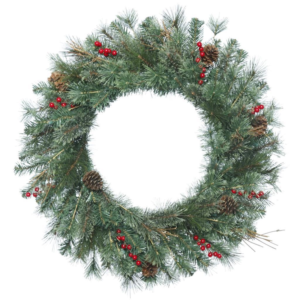 "Vickerman 409039 - 30"" Bristol Pine Christmas Wreath (B168830)"