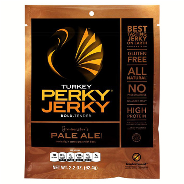 Perky Jerky Turkey Pale Ale 2.2 oz Pouches - Pack of 8