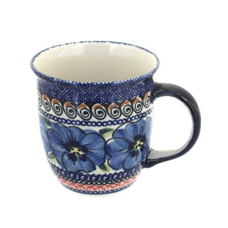 Polish Pottery Blue Art - Polish Pottery Blue Art Coffee Mug