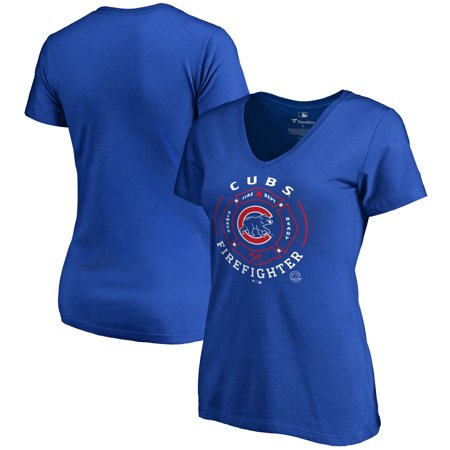 Chicago Fire Tshirts (Chicago Cubs Women's Firefighter T-Shirt -)