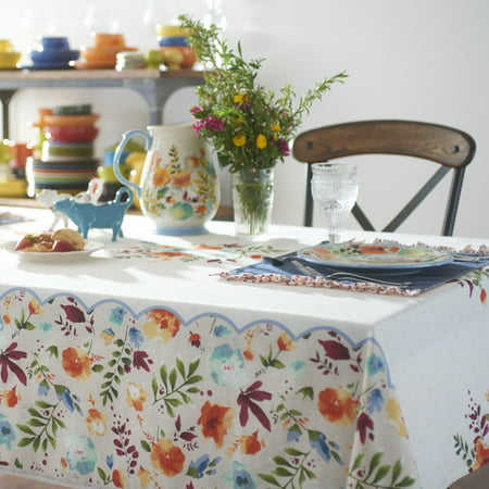 The Pioneer Woman Willow Tablecloth Available In Multiple Sizes
