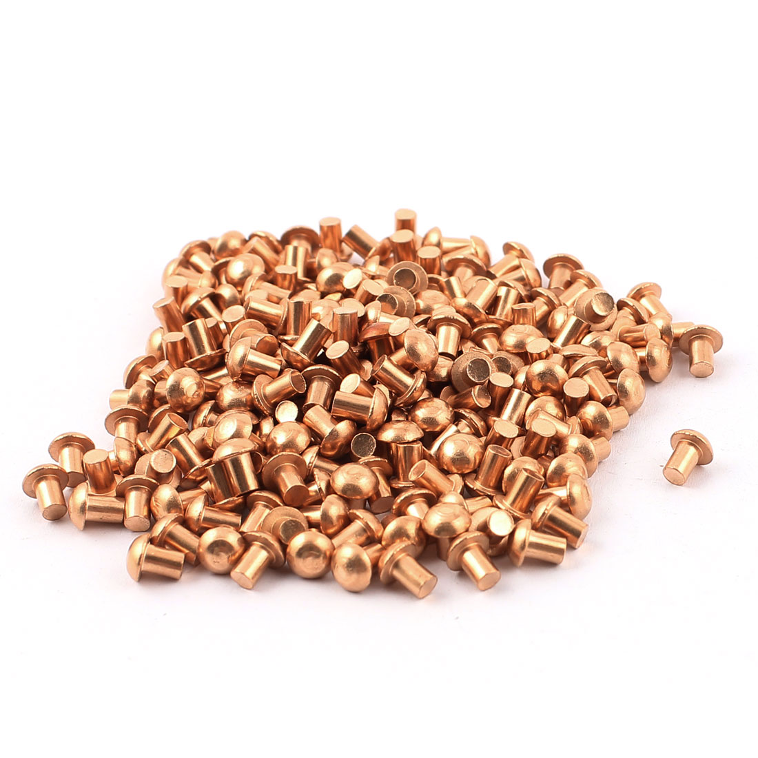 "200 Pcs 1/8"" x 5/32"" Round Head Copper Solid Rivets Fasteners"