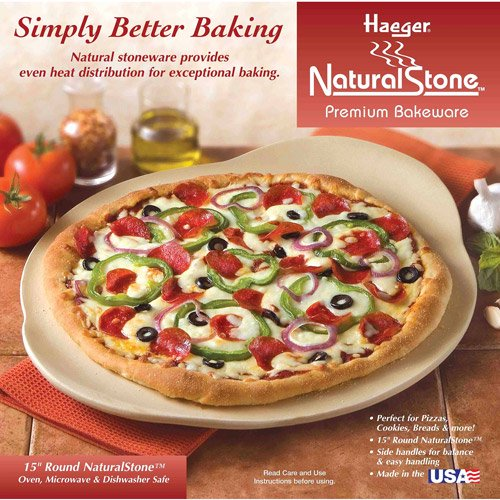 Haeger Potteries 15 Round Handled Oven Pizza Stone Walmart