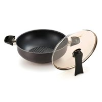 Happycall 3900-0042 Diamond Party Wok with Lid , 11 in.