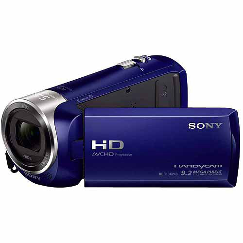 Sony Hdr Cx240 L Blue Hd Camcorder With 27x Optical Zoom 2 7 Lcd And Steadyshot Image Stabilization Walmart Com Walmart Com