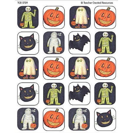 Halloween Teachers Resources (Halloween Stickers from Susan Winget, Multi Color (5729), 120 stickers per pack By Teacher Created)