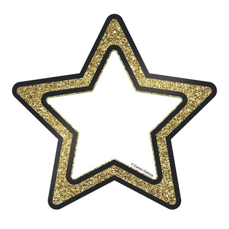Gold Glitter Stars Cut Outs Sparkle And Shine - Spider Cut Outs