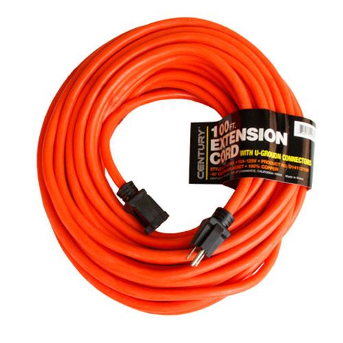 Century Contractor Grade 100' 10 Gauge Power Extension Cord 10/3 Plug