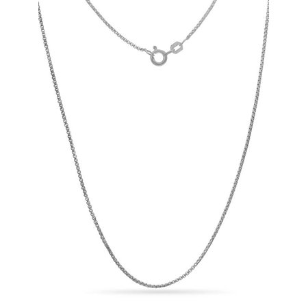 Sterling Silver Open Box Link Chain Necklace 18 Inch