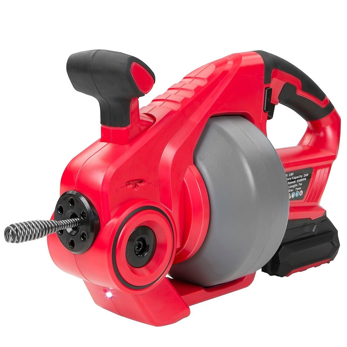 STKUSA 25ft Cordless Portable Electric Plumbing Dredger Cleaner Drain Snake Auger Drill Cleaner Plumbing Remover Tool