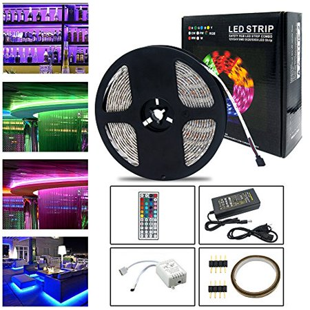 neraon 164ft5m led strip lights kit 12v dc dimmable flexible light strip