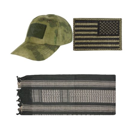 Cap A Tacs Fg   Usa Patch Od Green Right   Od Tan Shemagh