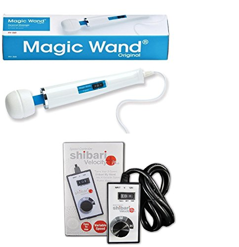 Powerful Magic Wand Massager w/ Shibari's Variable Speed Controller by Hitachi