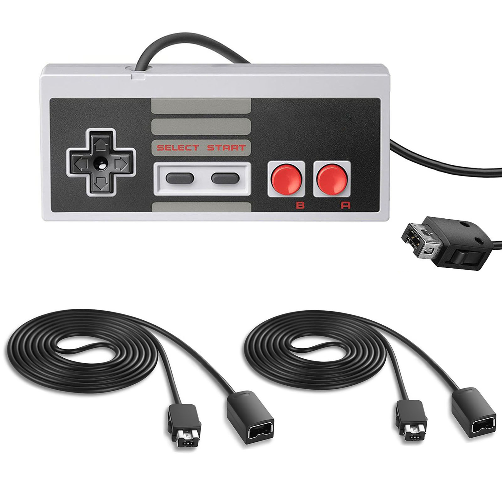 Game Controller+2 PCS 9.8ft Extension Cable for Nintendo NES Mini Classic Edition