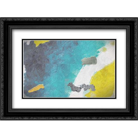Contempo Prime 2x Matted 24x18 Black Ornate Framed Art Print by Greene, Taylor