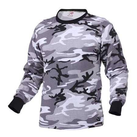 Rothco Long Sleeve Camouflage T-Shirt, City Camo