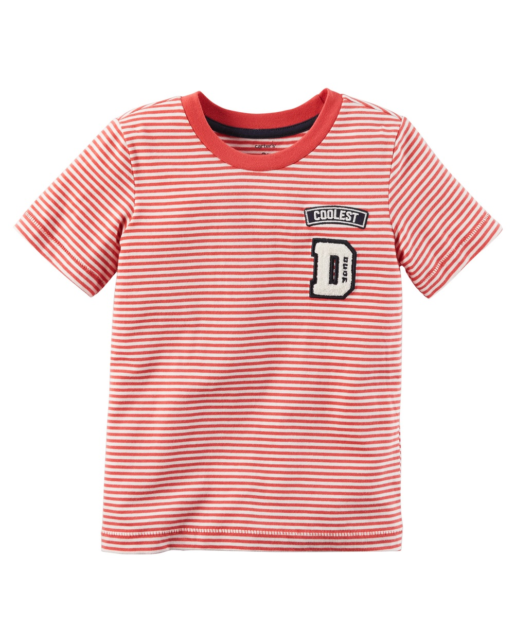 Carter's Baby Boys' Striped Ringer Tee, 3 Months