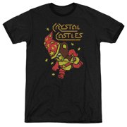 Atari Crystal Bear Mens Adult Heather Ringer Shirt