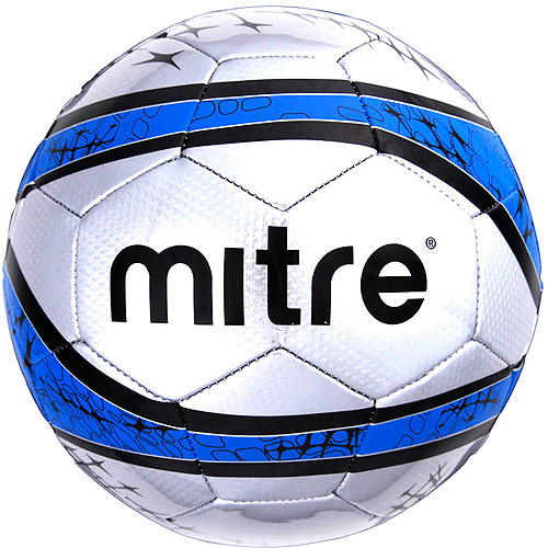 Mitre Cup Final Soccer Ball, Silver and Blue, Size 5