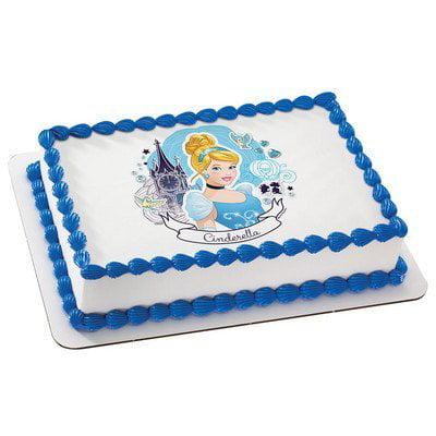 Cinderella Edible Icing Image Cake Topper 6 Round - Cinderella Cake Topper