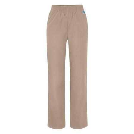 Adar Universal Classic Comfort Natural-Rise Tapered Leg Pants - 502 - Khaki - XXS