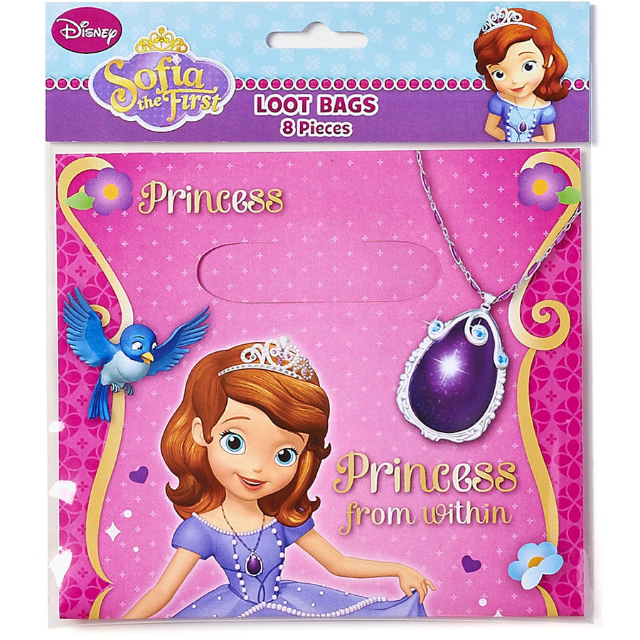 Sofia the First Treat Bags, Pack of 8, Party Supplies