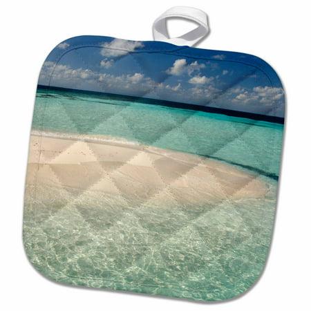 Belize Holder (3dRose Belize, Caribbean Sea. Goff Caye, Island off the shore of Belize City. - Pot Holder, 8 by)