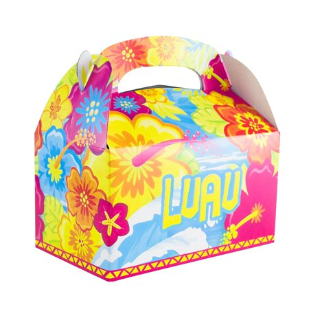 Colorful Luau Hawaii Island Tropical Gift Paper Cardboard Boxes For Crafts Candy Goodie Bags Birthday Party Favors 12 Pack By Super Z Outlet