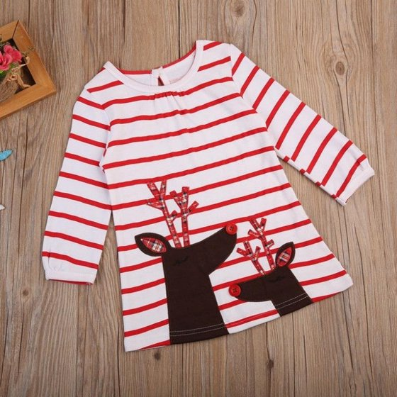 9affecadc66f Baby Girls Christmas Xmas Reindeer Little Girls Cute Dress One Piece Brand  New and high quality.Specially Designed For Cute Little GirlsCartoon  Pattern ...