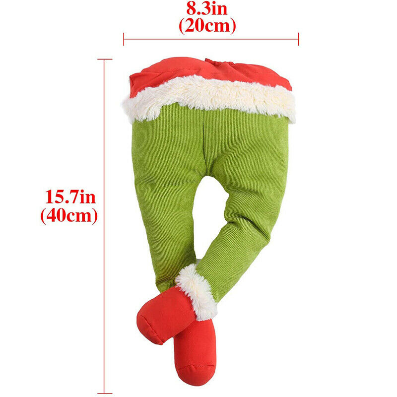 Plush Toy Doll How The Grinch Stole Christmas Legs Xmas Tree Wreath Decoration