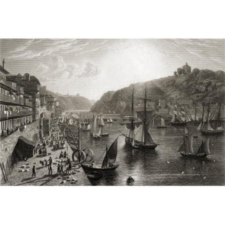 Posterazzi  Oporto, The Custom-House Quay From The Original Painting by Lt. Col. Batty F.R.S From The Book -Select Views of Some of The Principal Cities of Europe Published London 1832 Engraved - image 1 de 1
